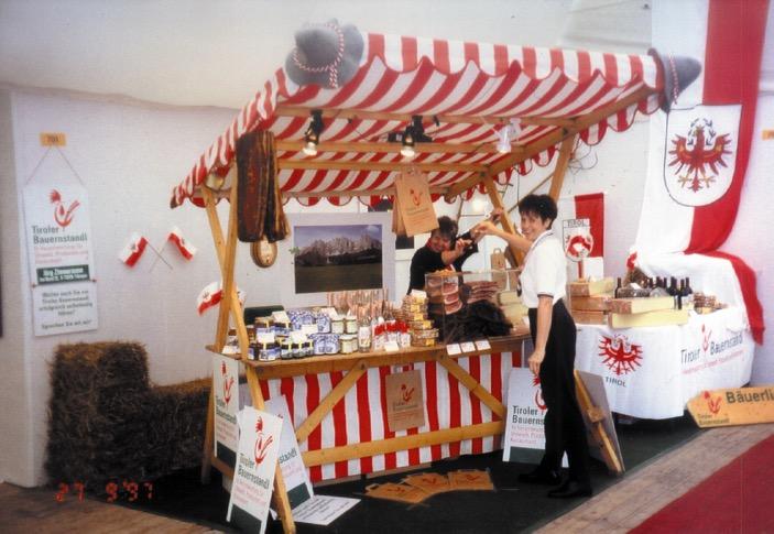 Prezentace stánku Tiroler Bauernstandl