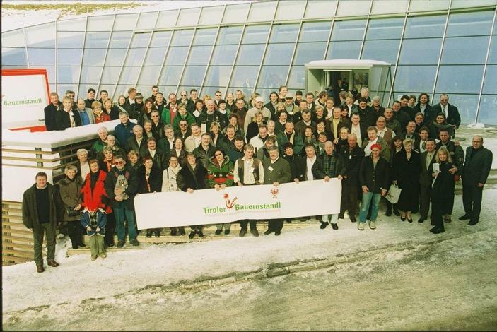 Tiroler Bauernstandl na každoroční konferenci ve slavném kongresovém centru Alpbach