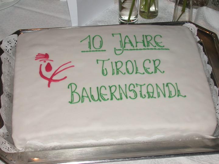 Výročí 10 let franšízového systému Tiroler Bauernstandl