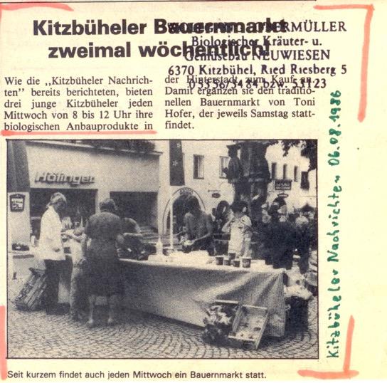 První tisková zpráva (Kitzbüheler Nachrichten)
