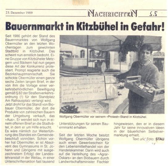 Na začátku se pekaři a řezníci Wolfgangovi posmívali, že na trhy jezdí na kole. Ale když měl mnoho zákazníků pokusili se ho zastavit udáním na úřady. Mnohokrát musel zrušit prodej, ale jeho zákazníci se zmobilizovali a díky jejich pomoci, vytrvalosti a taky troše štěstí, získal veškerá povolení a prodeje mohly znovu začít.